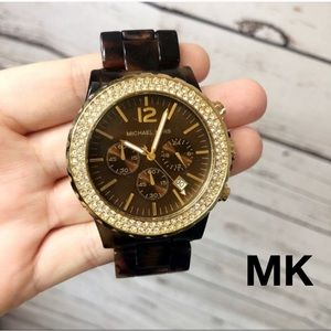 Michael Kors Madison Tortoise Watch